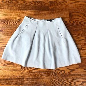 Pastel blue mini skirt